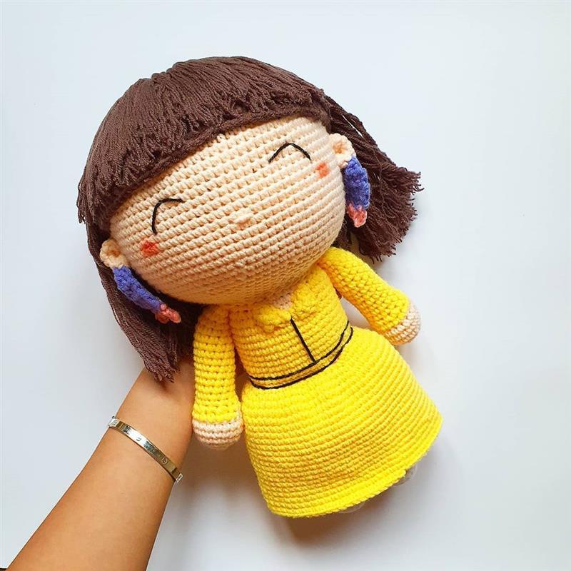 cabelo de boneca com franja