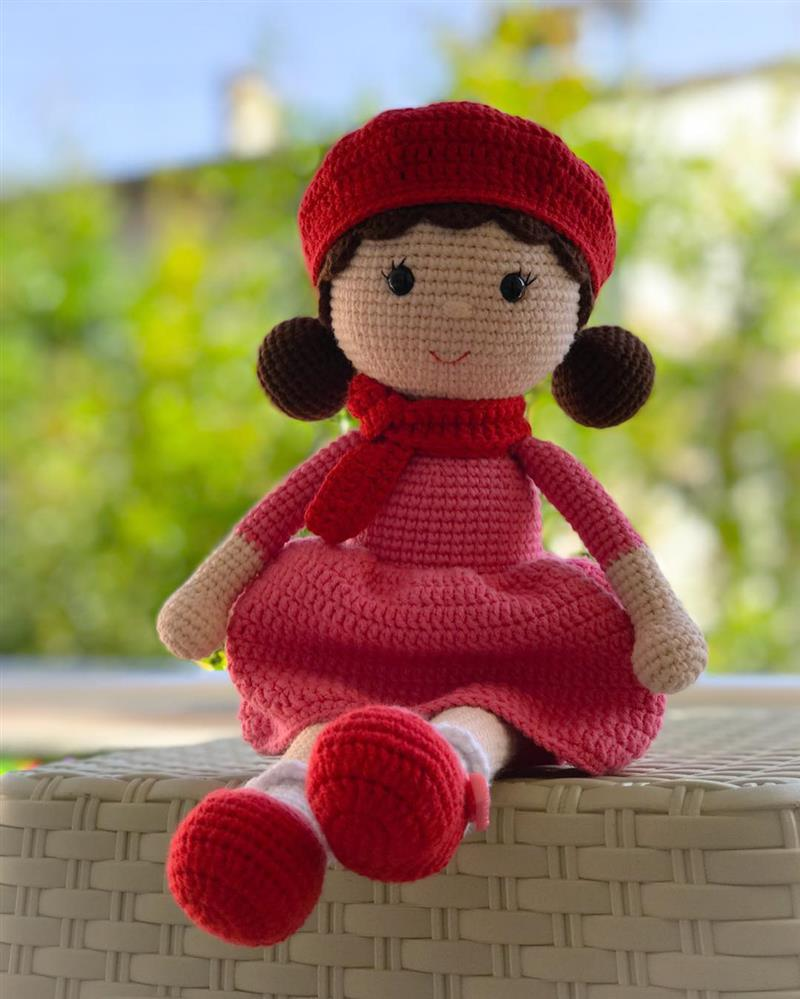 Boneca Amigurumi Em Crochê Morena - R$ 30,00 em Mercado Livre | 999x800