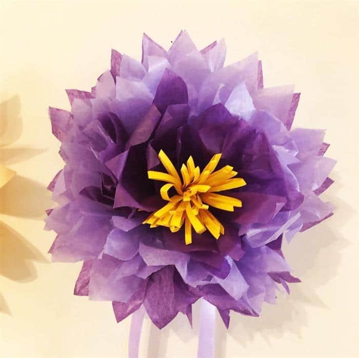 flor de seda com miolo