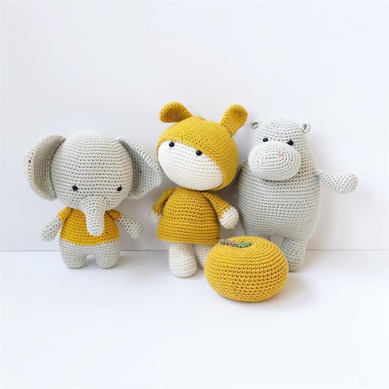 animais de croche