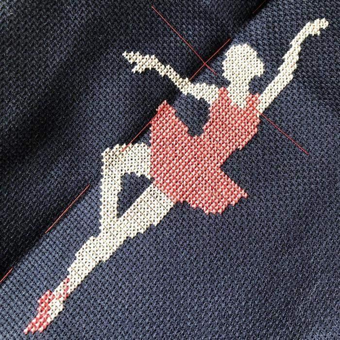 bailarina bordada