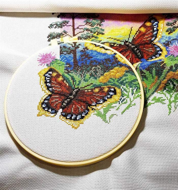 borboleta em ponto cruz