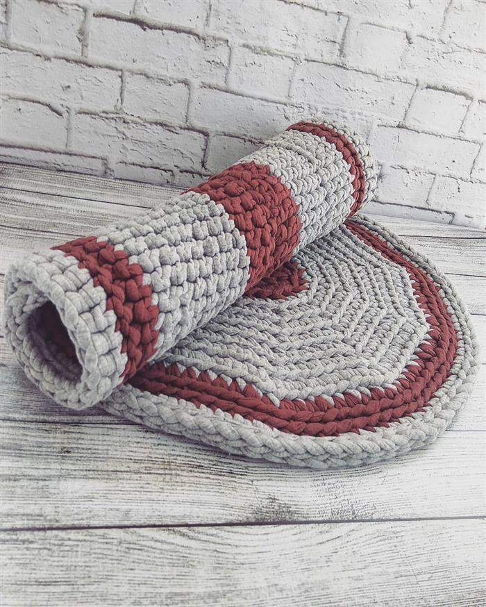 decoração de piso em crochê