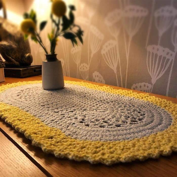 passadeira de crochê para mesa