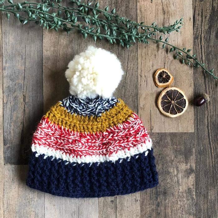 touca com linha de lã