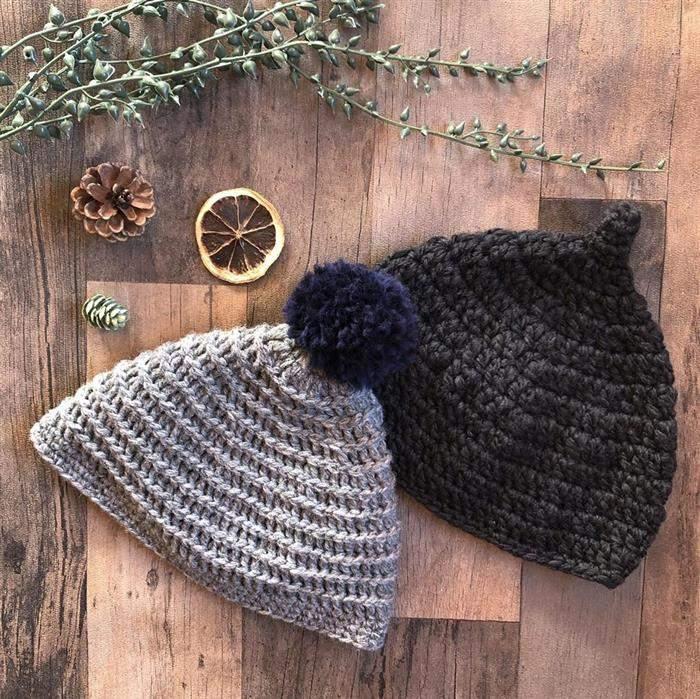 touca feita em trico