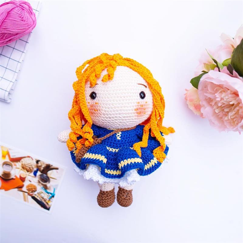 cabelo de croche para boneca