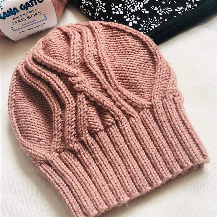 touca de trico feminina