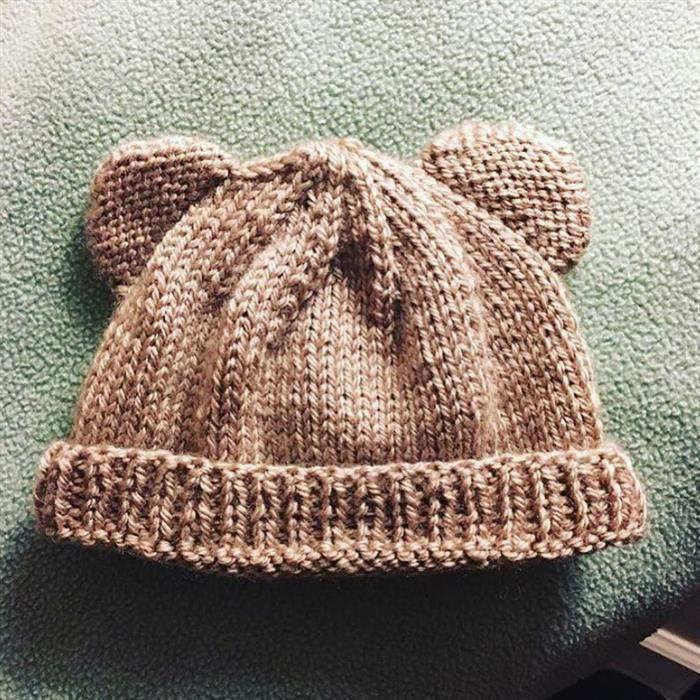 touca de linha de lã