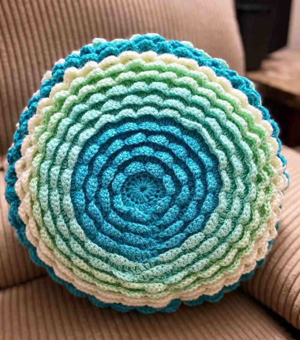 almofada em formato de flor
