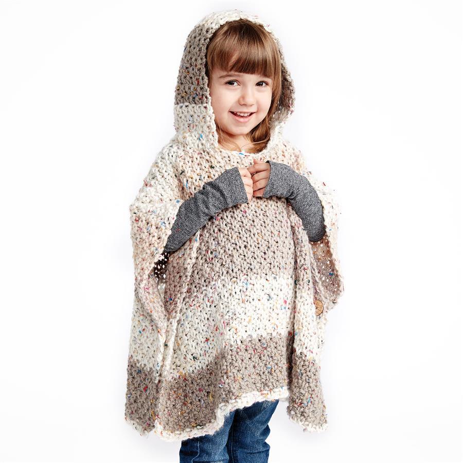poncho de trico infantil