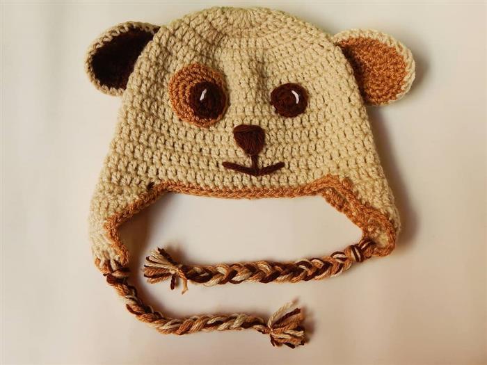 Touca de tricô infantil