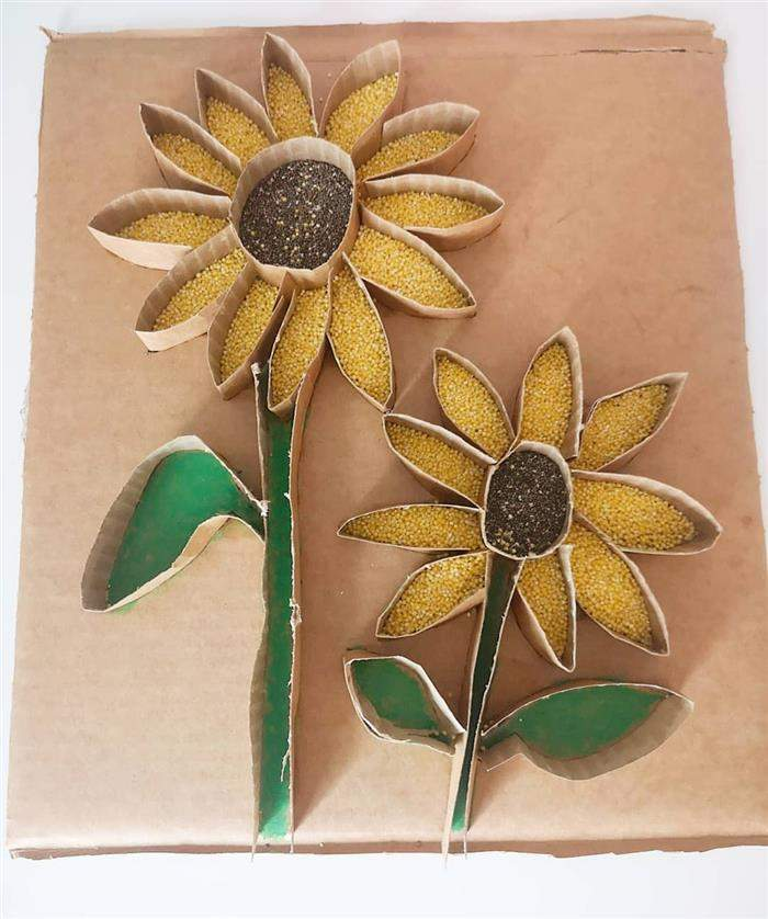 artesanato com rolo de papel