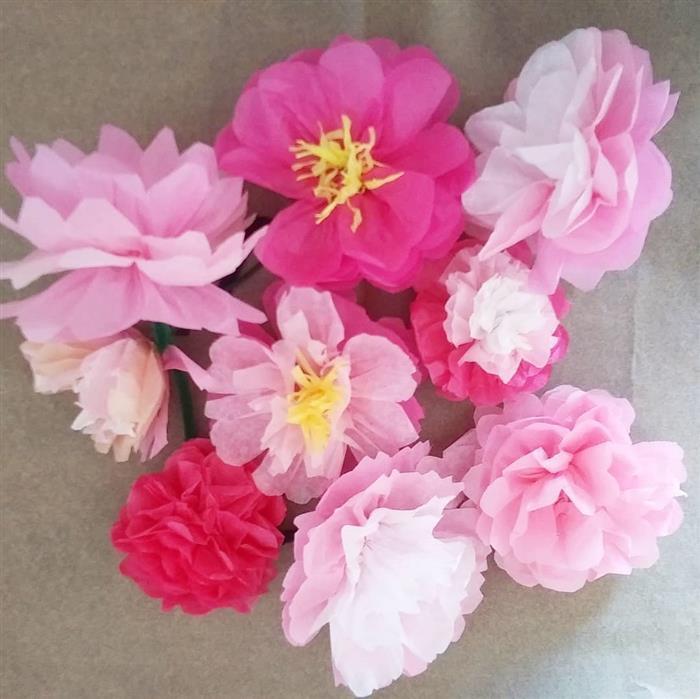 combinação de flores