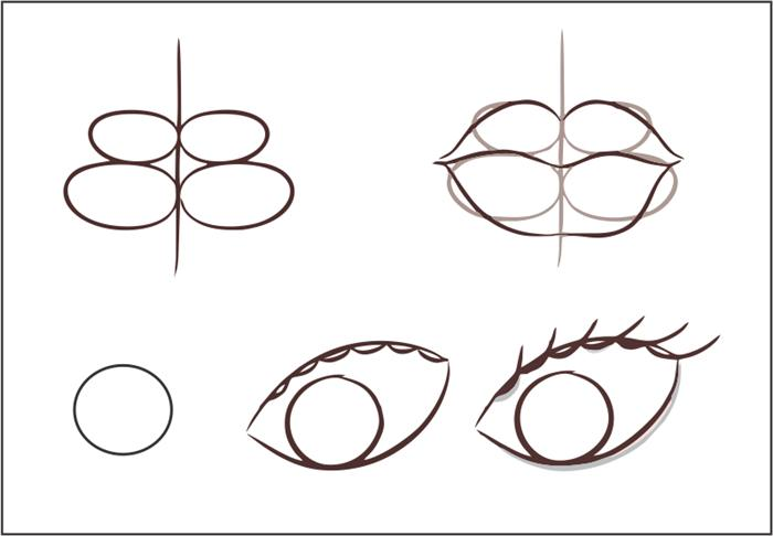como desenhar olho e boca passo a passo