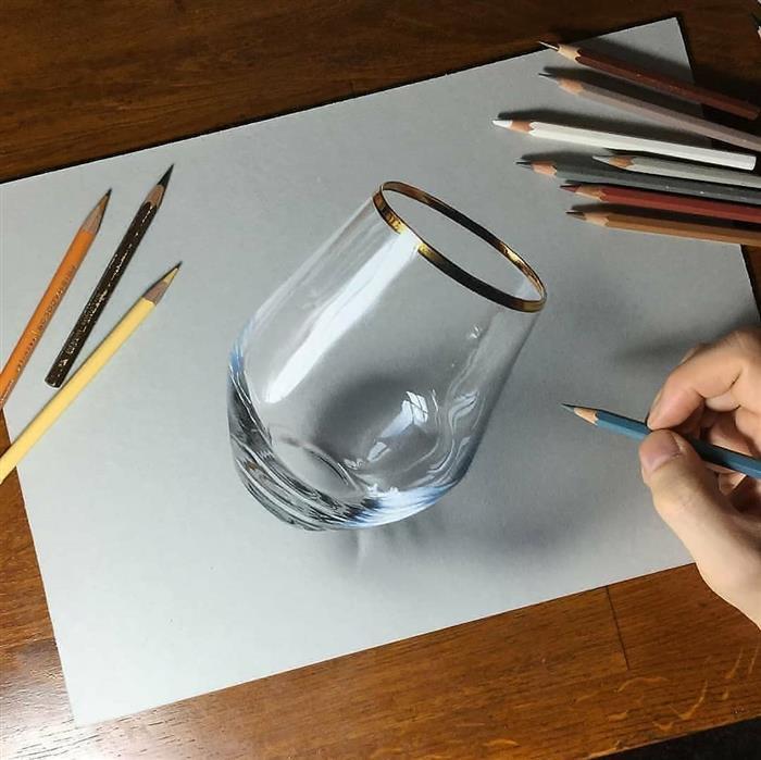 desenho de copo em 3d