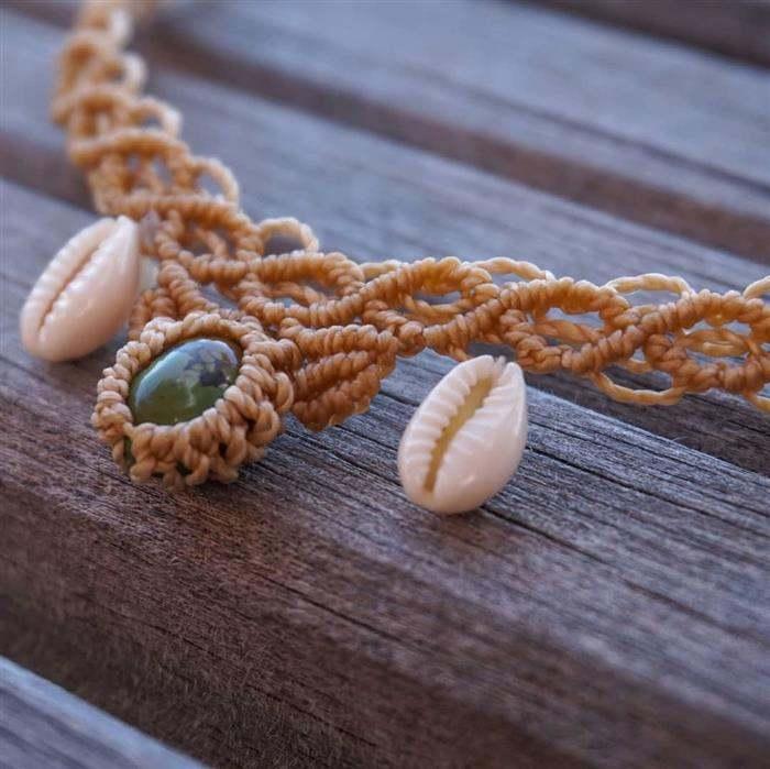 colar rustico artesanal