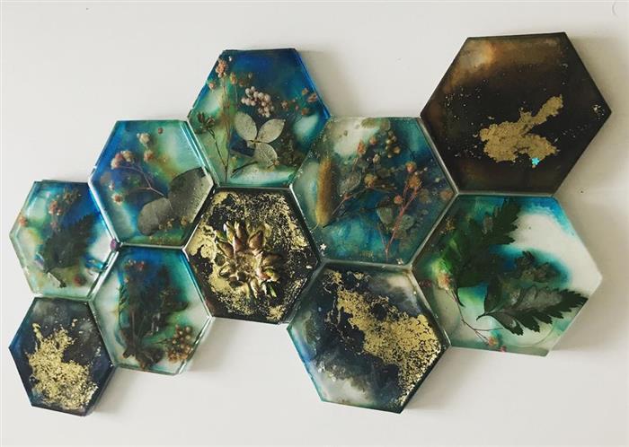 decoração com resina epoxi