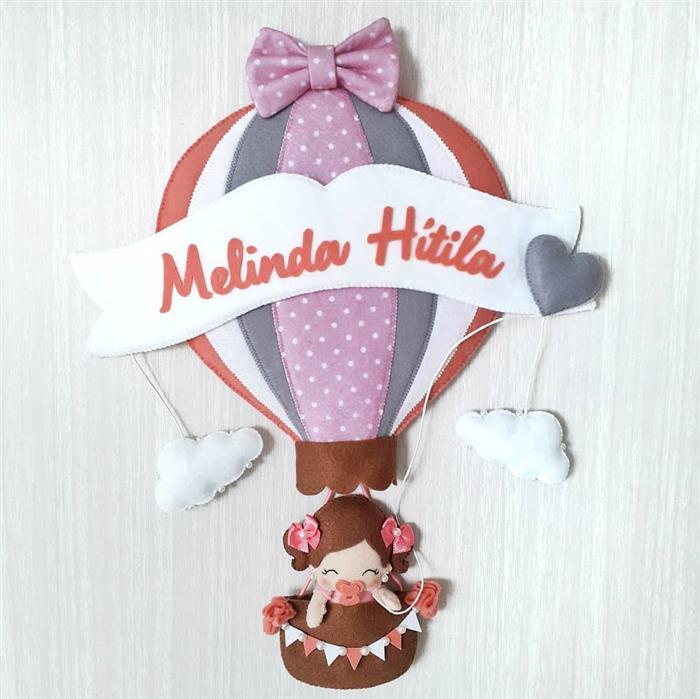 decoração de feltro para quarto do bebe
