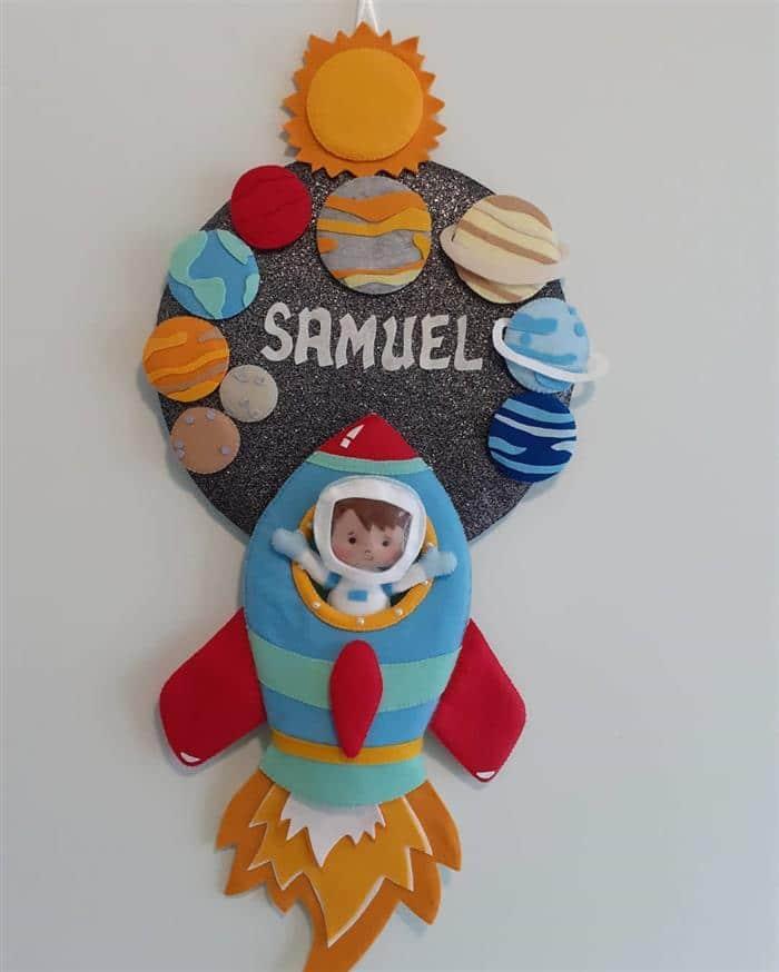 decoração para quarto astronauta