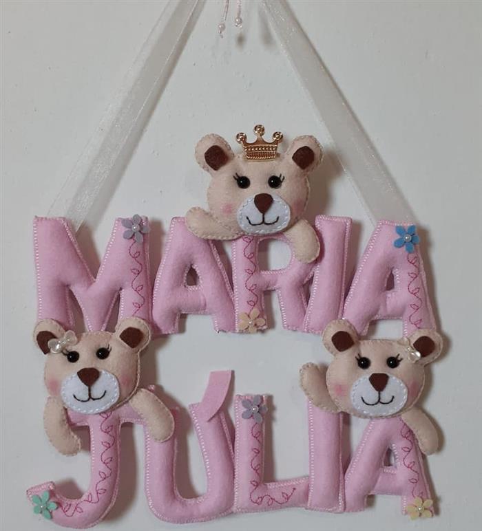decoração ursinha princesa parta quarto de bebe