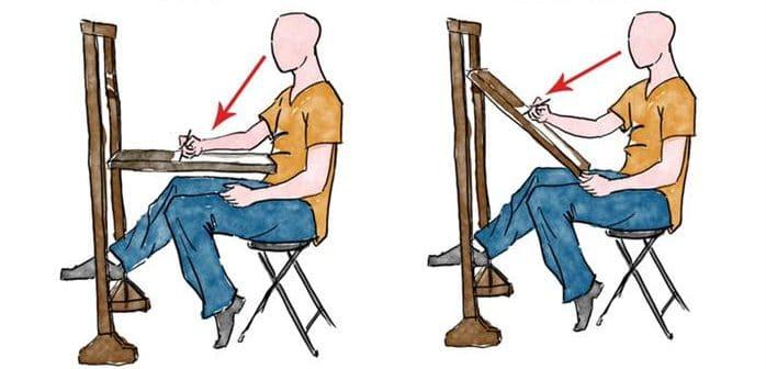 postura para desenhar