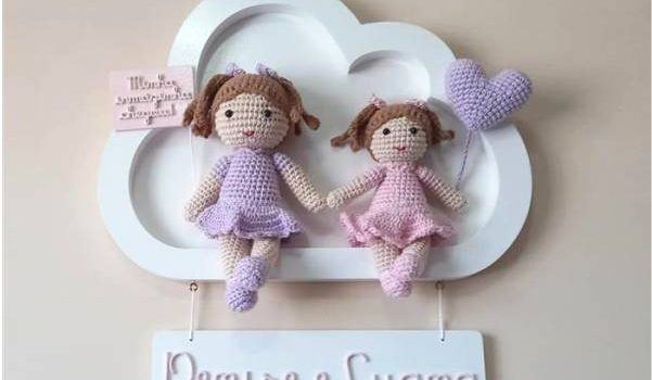 bonecas de croche para porta maternidade