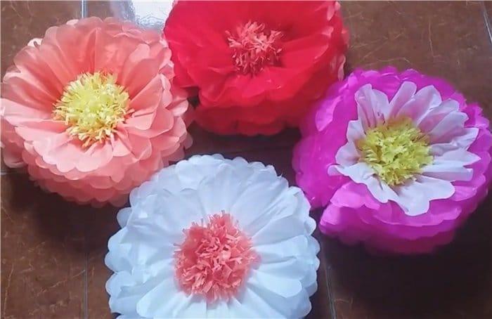 flor gigante de seda