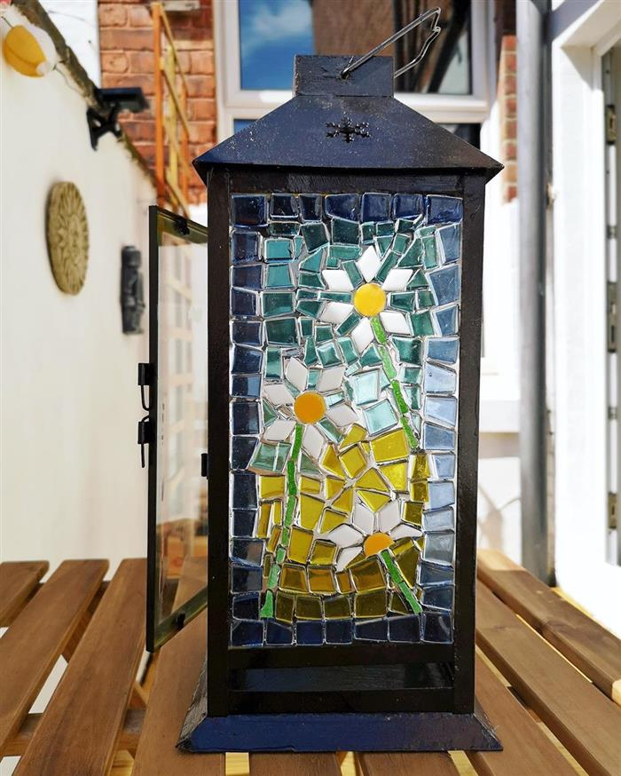 lanterna com mosaico