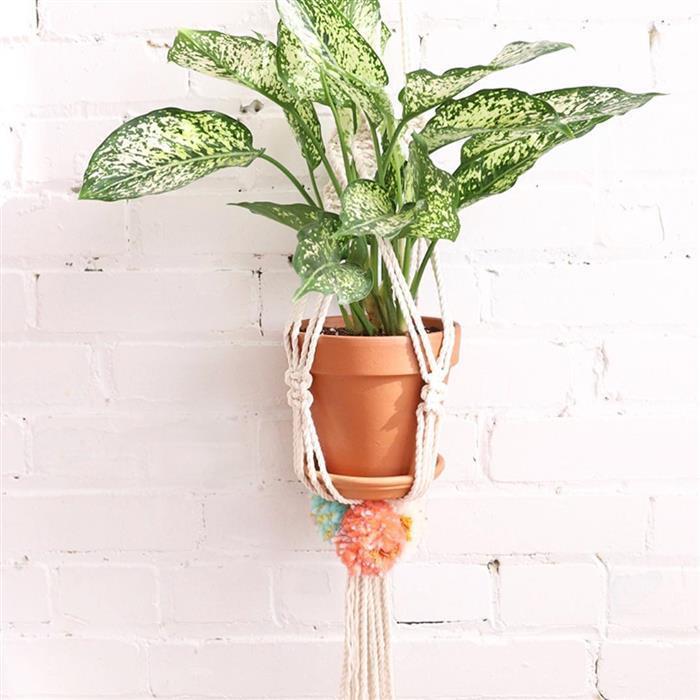 macrame para plantas