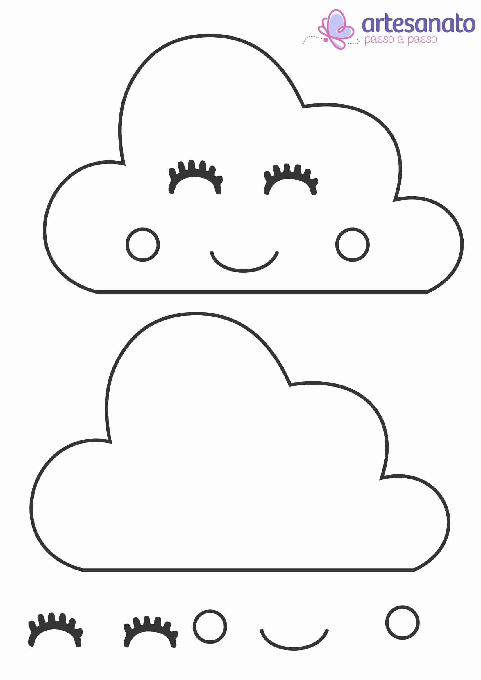 molde de nuvem de amor para fazer chuva de amor