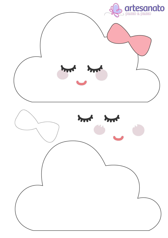 nuvem de amor molde para imprimir