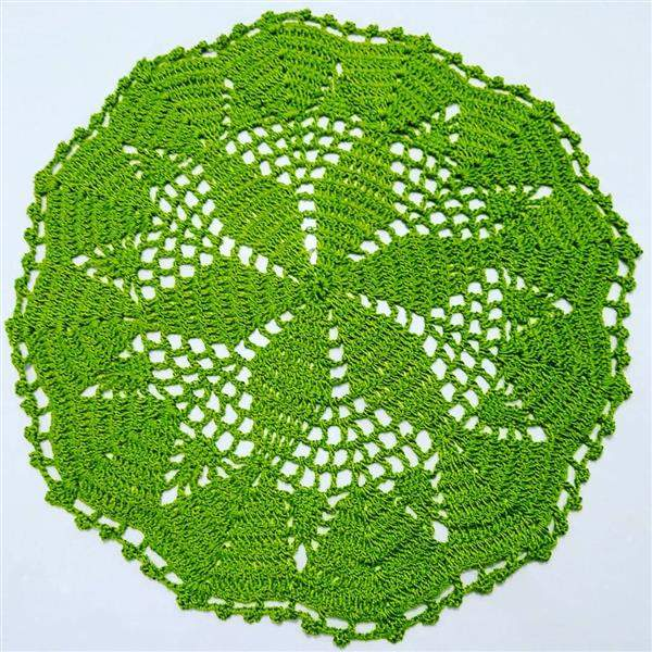 toalha circular verde