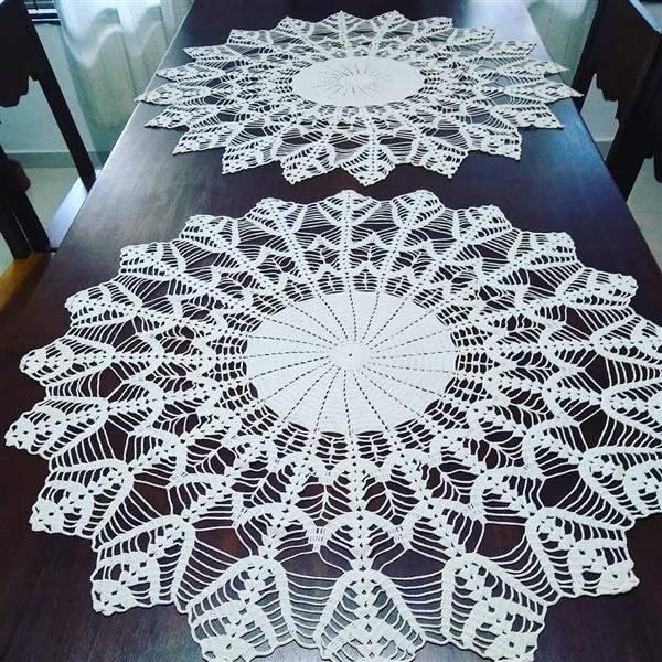 toalha de croche branca