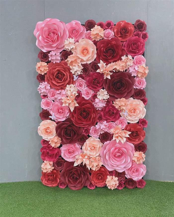 painel de flores