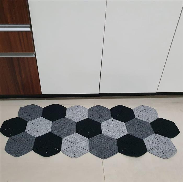 passadeira de crochê geometrica
