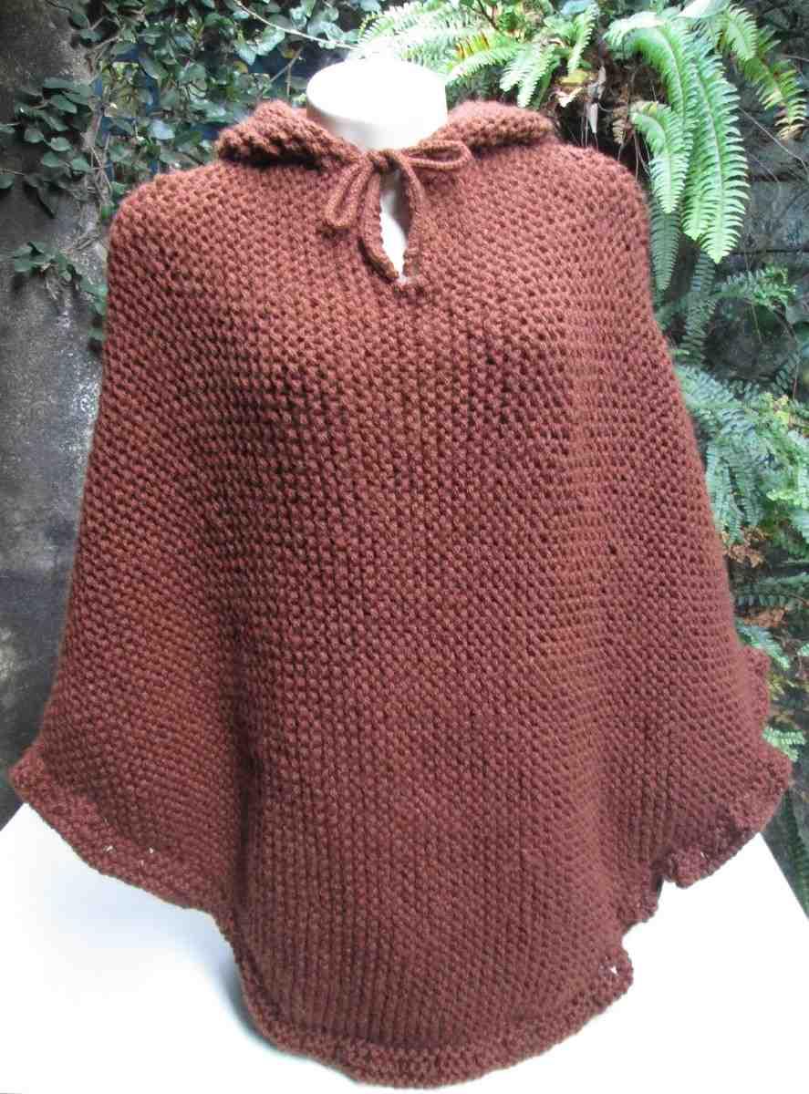 poncho feminino com capuz