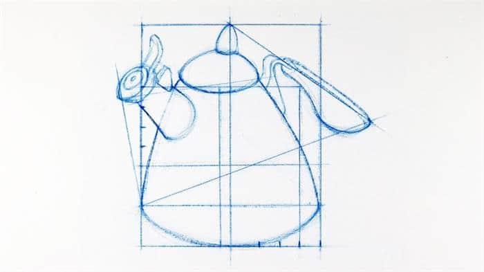 técnica de desenho com proporção
