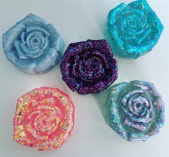 rosas de epoxi