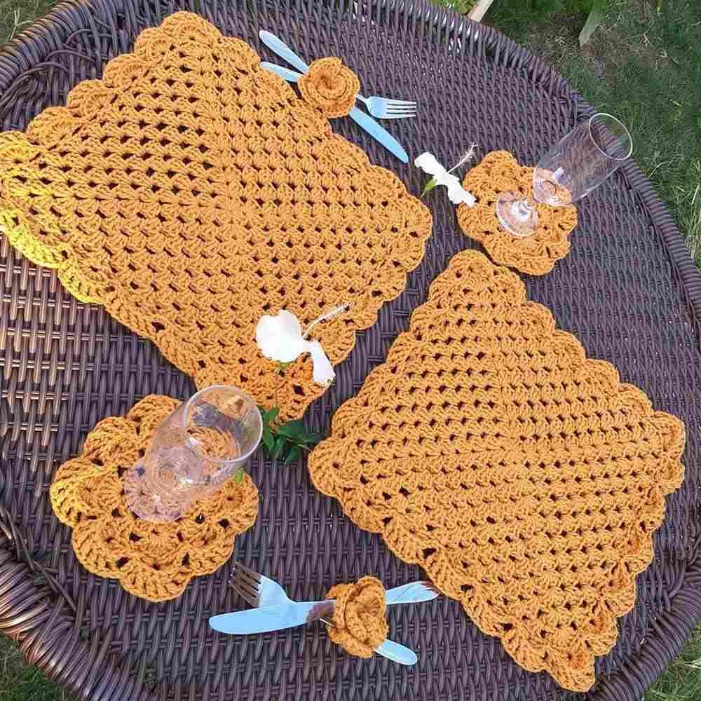 sousplat mostarda quadrado