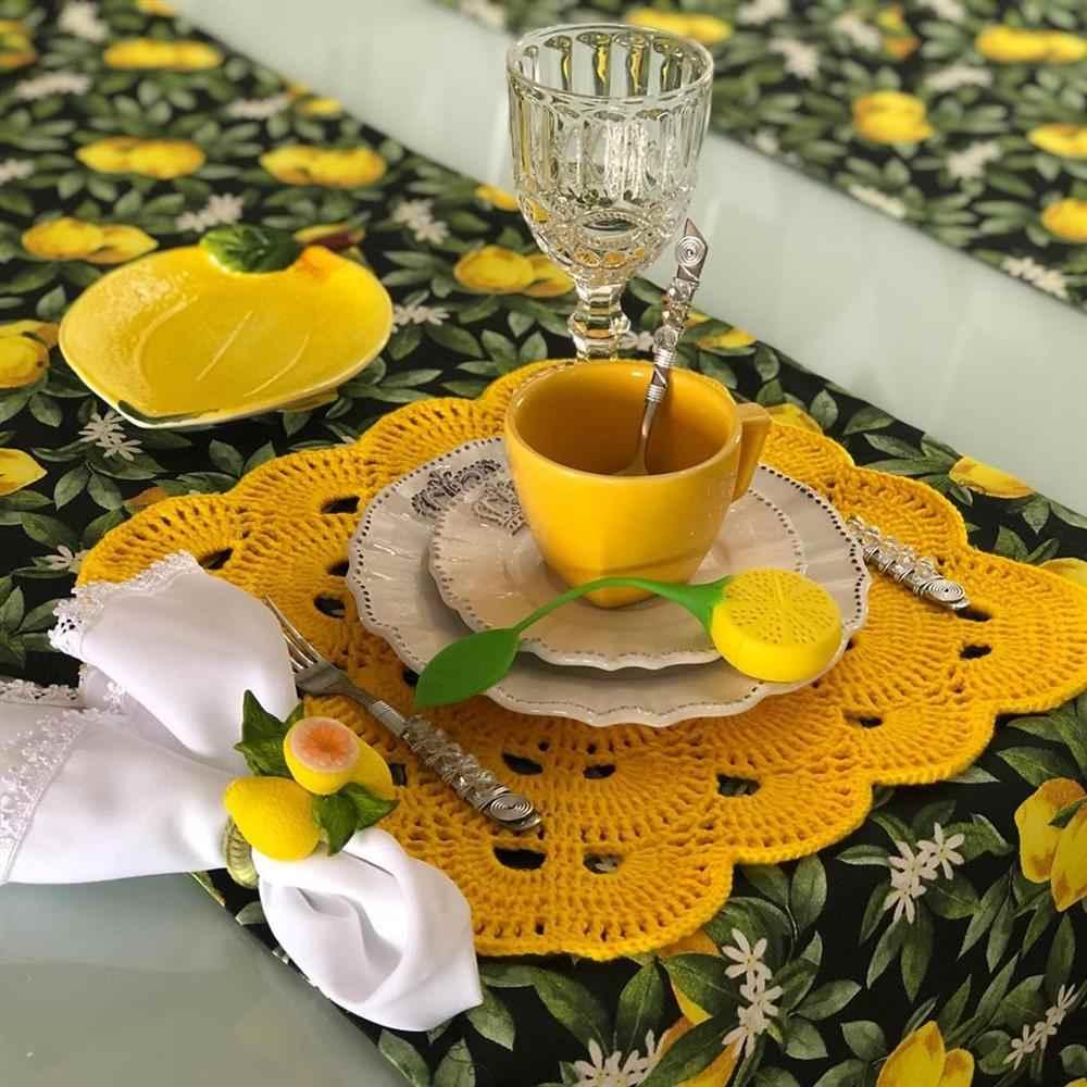 sousplat de croche amarelo