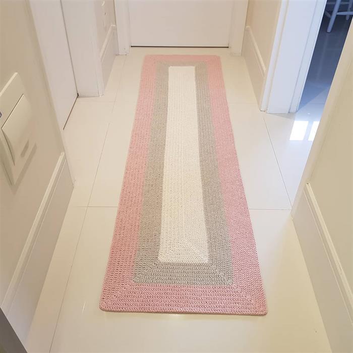 passadeira de crochê para corredor