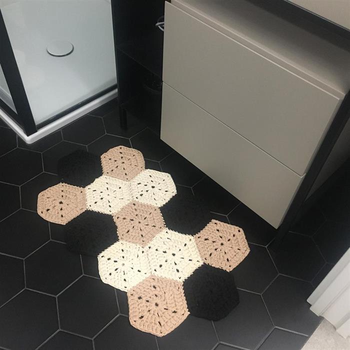passadeira de crochê de cozinha