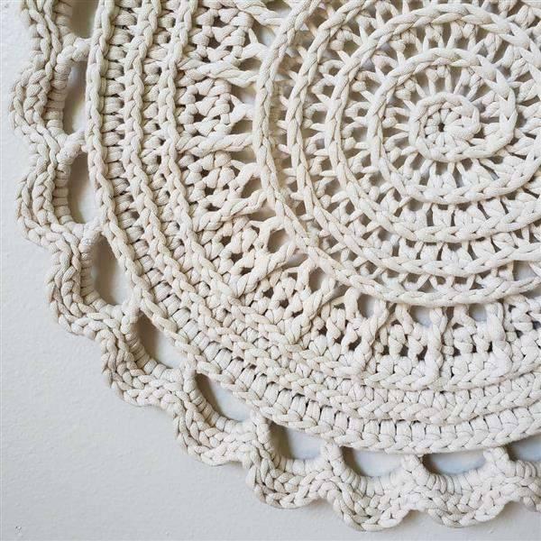toalha de croche classica na cor branca