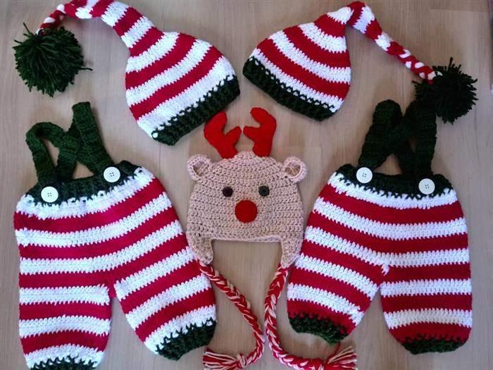 touca de trico natal