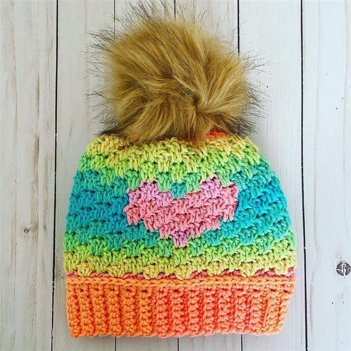 touca multicolor trico