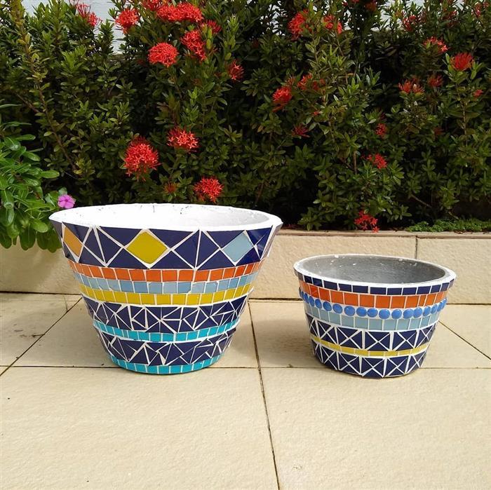 vaso de mosaico