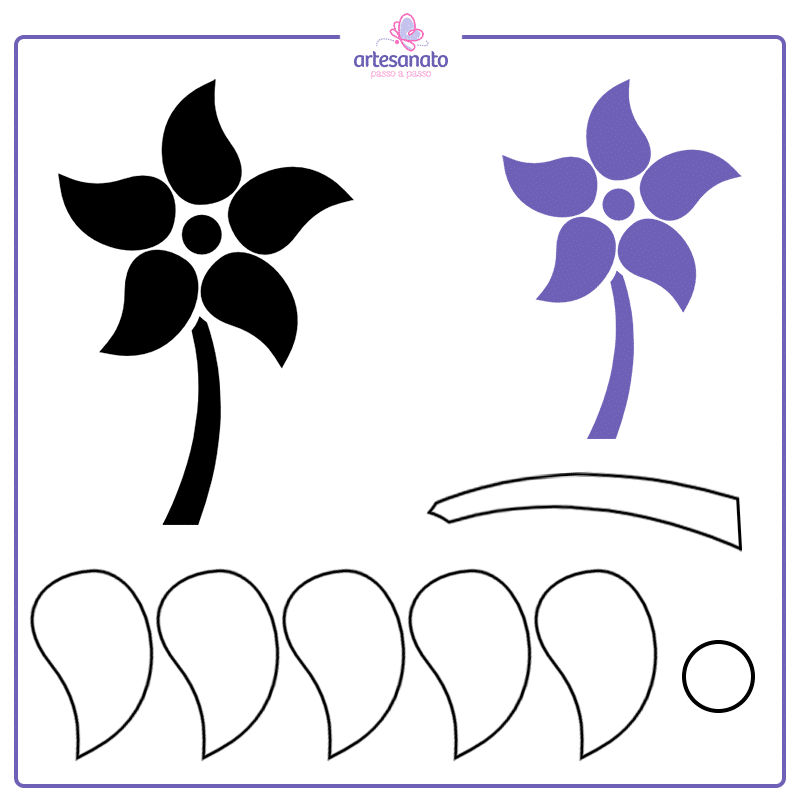 flor simples e facil de fazer