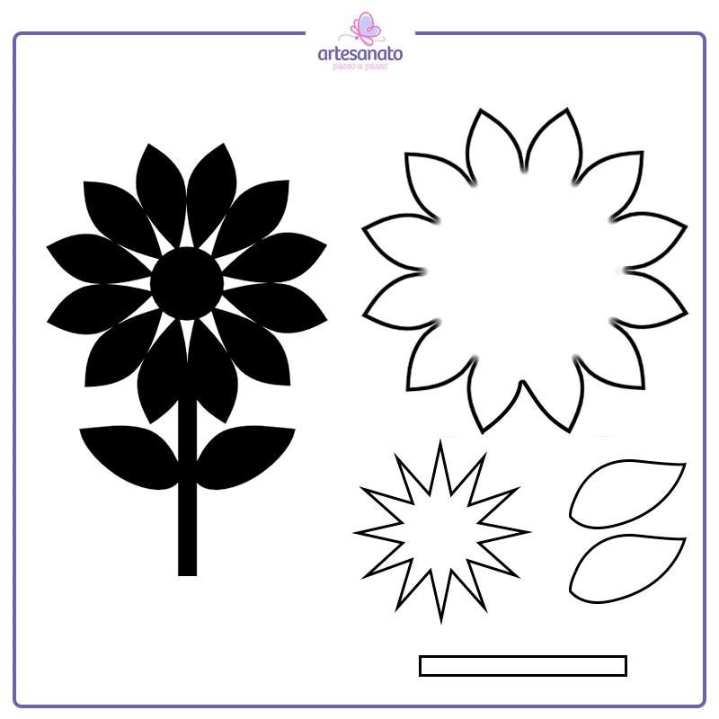 flor aberta para imprimir