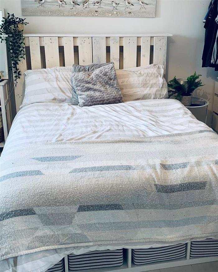 cama de palete branco
